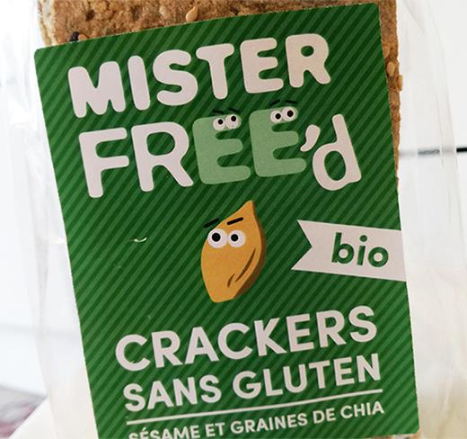 Les crackers bio et sans gluten Mister Free'd partent à la conquête de la France…