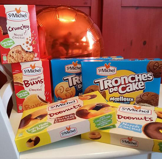 Tronches de Cake, Doonuts, Crousty Buns..., St Michel réinvente les goûters avec une toute nouvelle gamme pour le goûter.