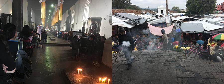 Eglise intérieur et encens