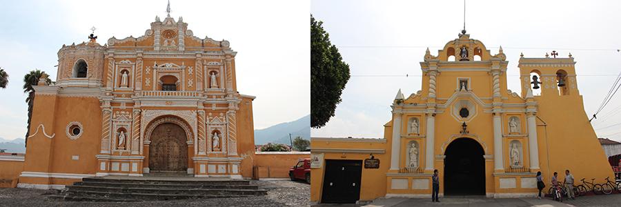 Deux églises d'Antigua