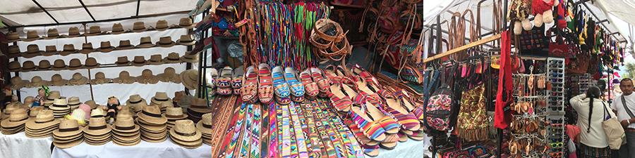 Chapeaux Panama, chaussure et ceintures