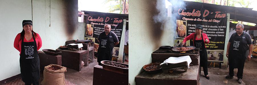 Cuisson des fèves de cacao