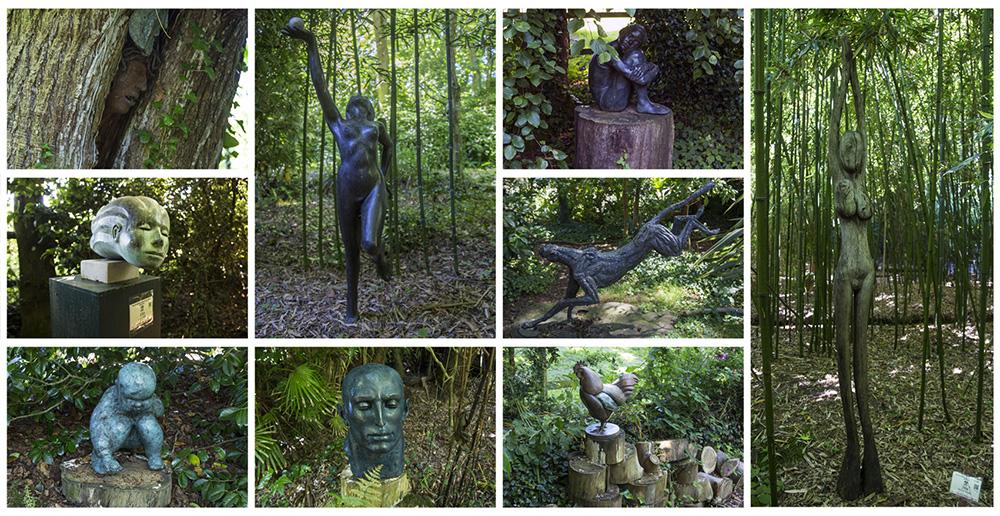 Statues dans le parc