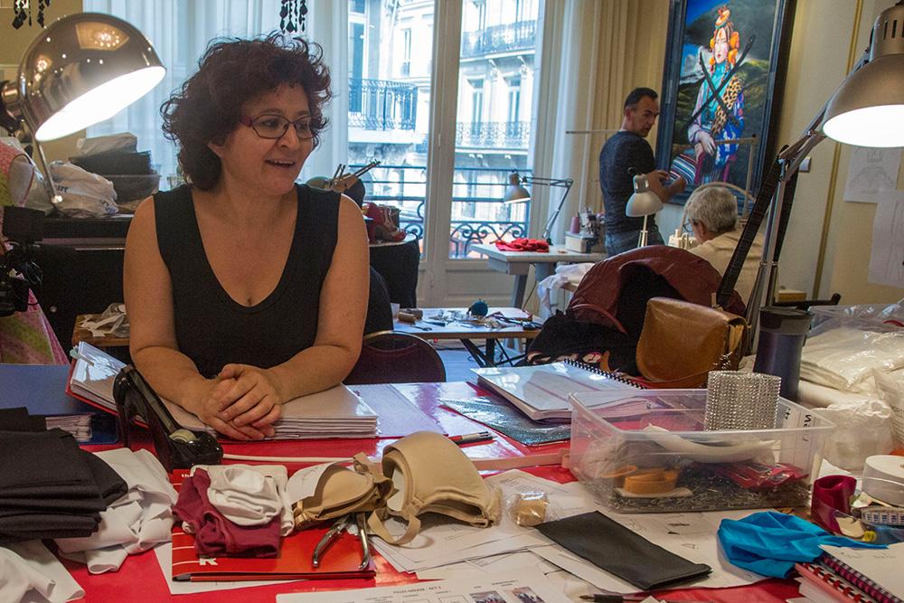 Corinne Pagé Chef de l'atelier couture