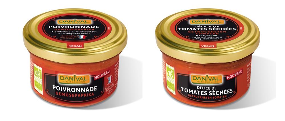 Poivronnade et Délices de tomates séchées.