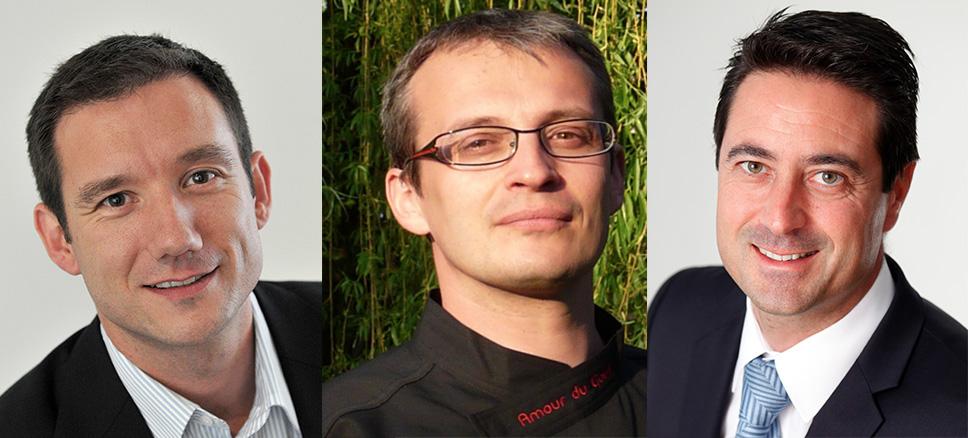 Les trois dirigeants de L'Etoile des Gourmets