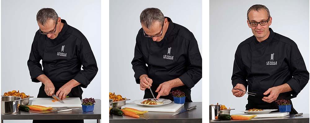Olivier Delafont prépare les plats