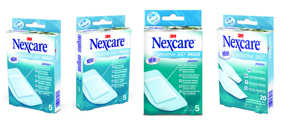 Pansements Nexcare Sensitive 360°