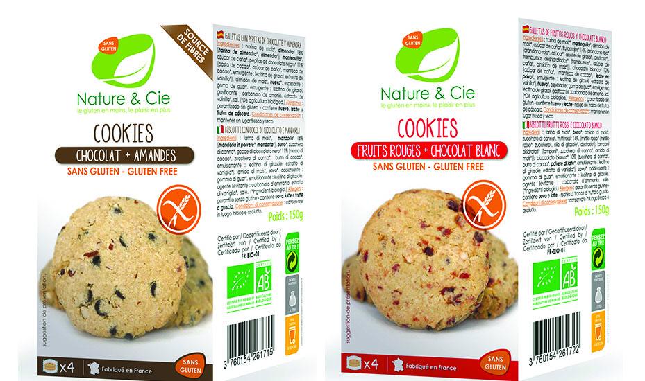  Cookies chocolat et amandes et cookies fruits rouges et chocolat blanc.