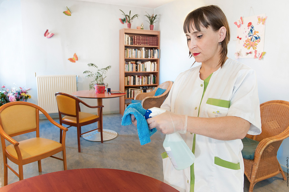 Milieu hospitalier pour les produits Action Pin
