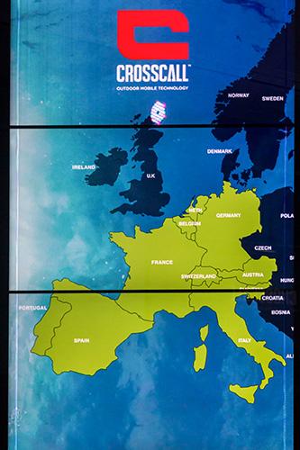 Action-X3 carte d'Europe avec implantation de la marque.