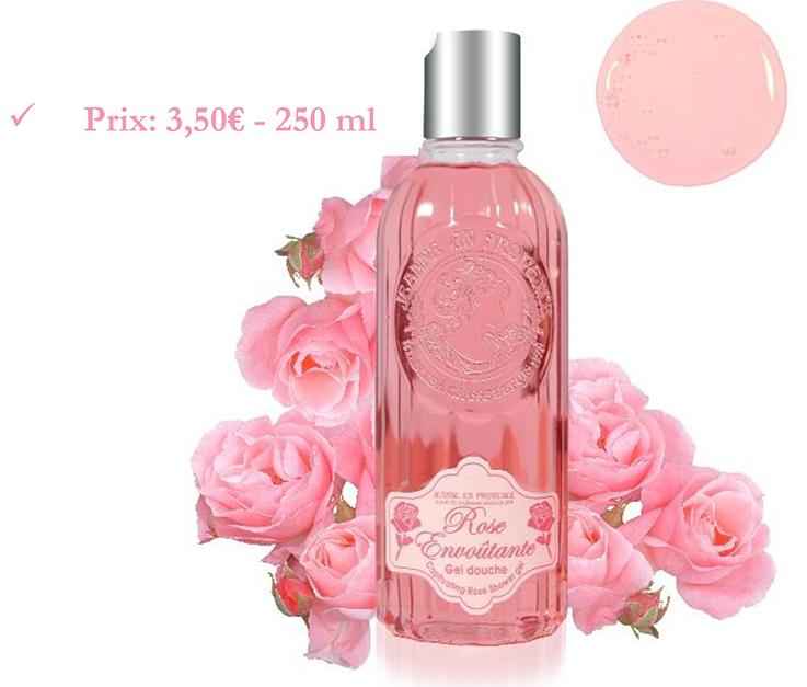 Le Gel douche Rose Envoutante