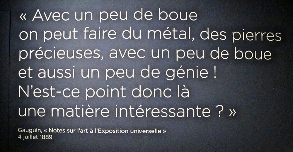 Texte de Gauguin