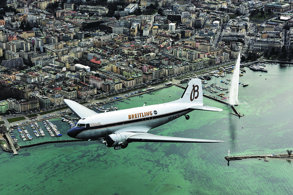 Breitling DC-3 World Tour - Geneva - Switzerland