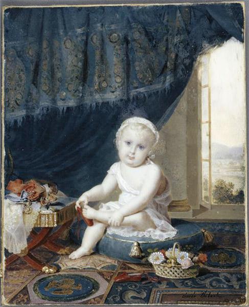 Thibault Aimée (1780 – 1868), Le roi de Rome essayant une pantoufle, vers 1812 © Paris, musée de l'Armée, Dist. RMN-Grand Palais / Pascal Segrette
