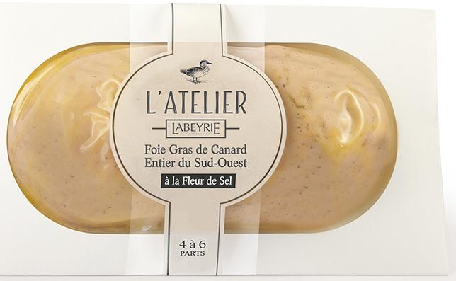 Foie Gras de Canard Entier du Sud-Ouest L'Atelier en lobe à la Fleur de Sel.