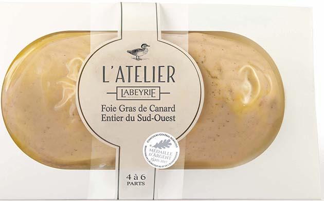 Foie Gras de Canard Entier du Sud-Ouest L'Atelier en lobe.
