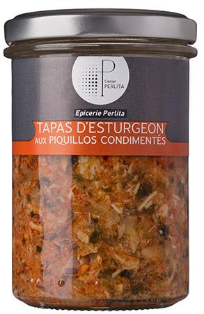 Tapas d'esturgeon aux Piquillos condimentés