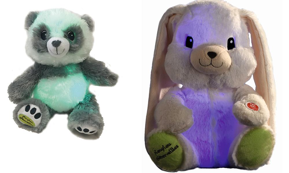Lapin et ourson lumineux