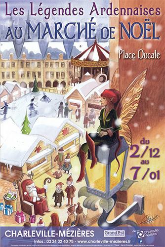 Marché de Noël : Affiche