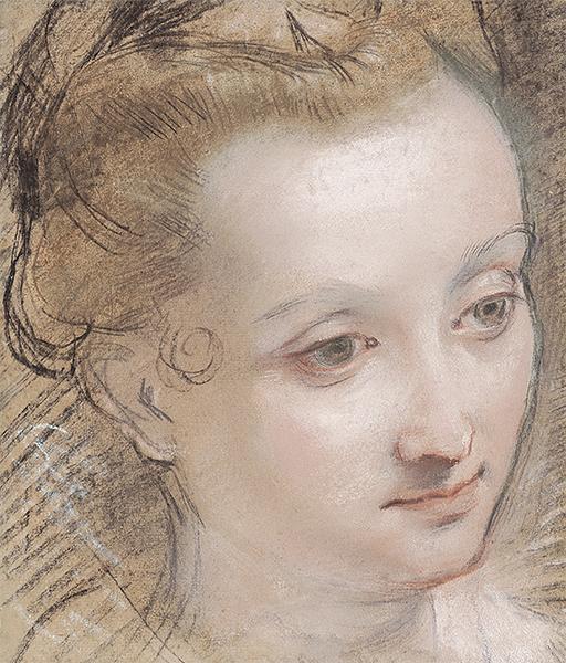 Federico Barocci Tête de jeune femme © Patrick Goetelen, Genève