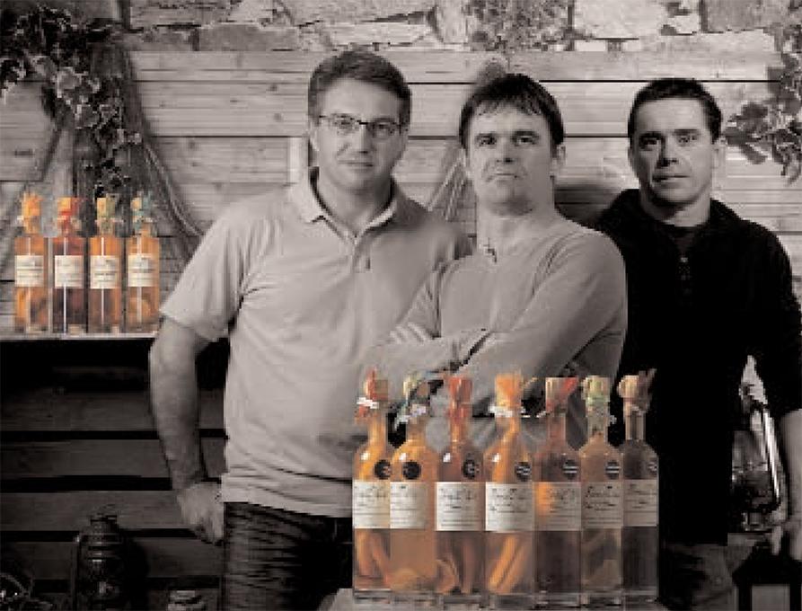 De gauche à droite : Alain Jegaden, Ronan et Olivier Philip