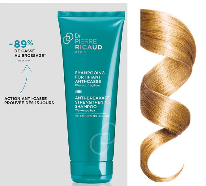 Shampooing fortifiant anti-casse cheveux fragilisés