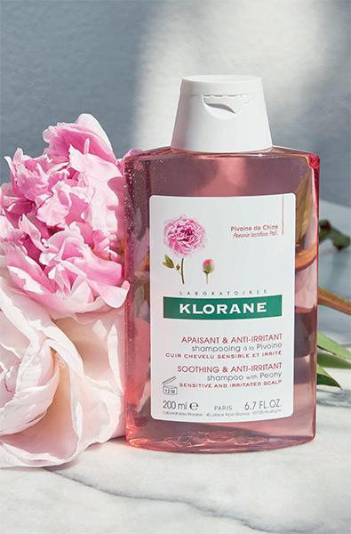 shampooing Klorane apaisant à la Pivoine