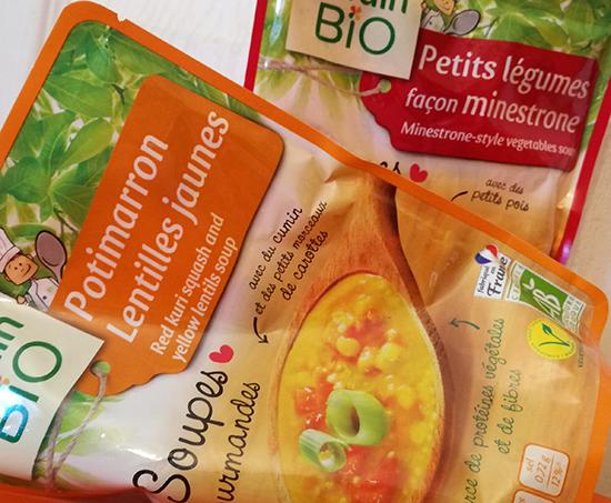 Pour cet hiver, Jardin Bio présente ses premières soupes en sachets express, disponibles en grandes surfaces, prêtes en seulement deux minutes !