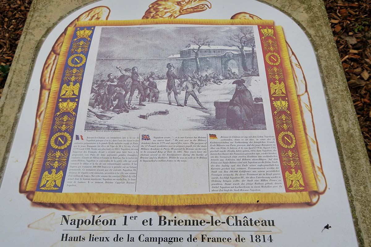 Napoléon et Brienne-le-Château