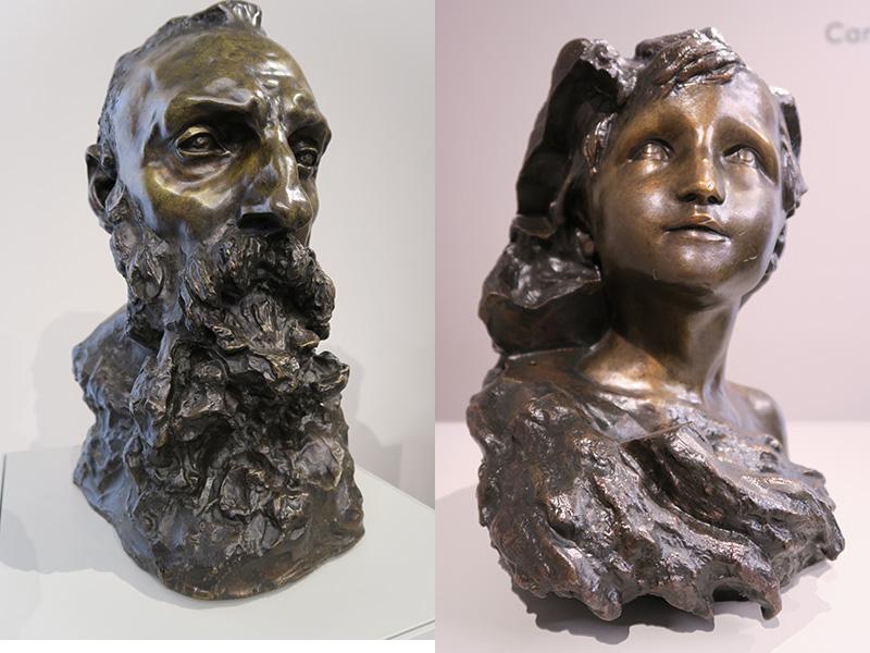L'Aurore, vers 1900 et Auguste Rodin sculpté par Camille Claudel