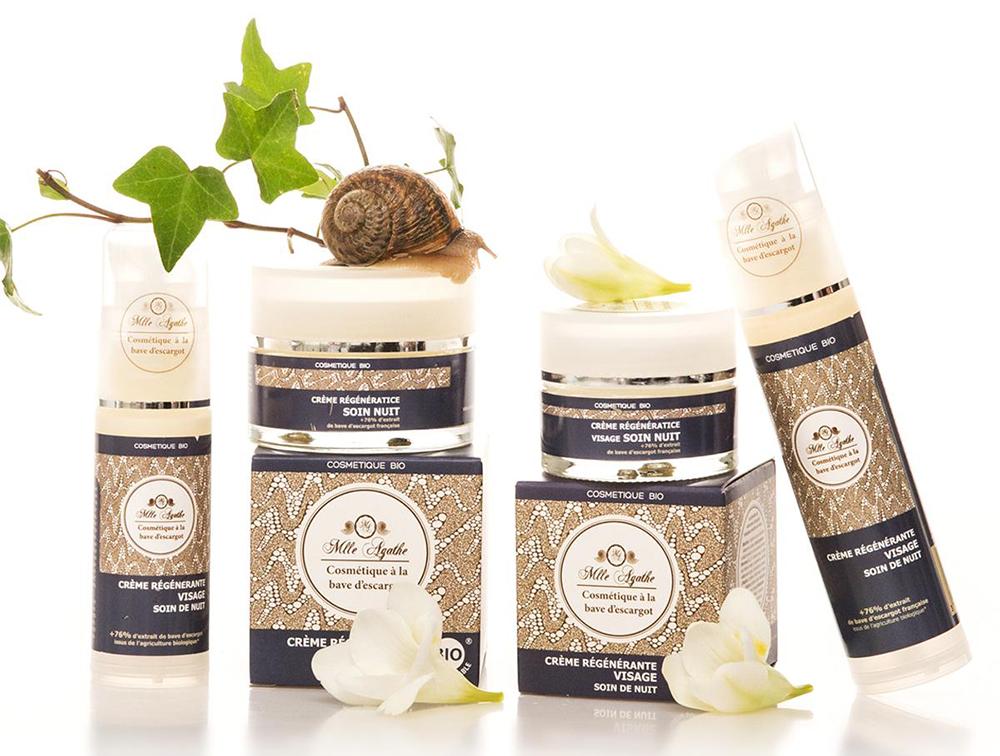 Crème régénérante visage soin nuit à la bave d'escargot
