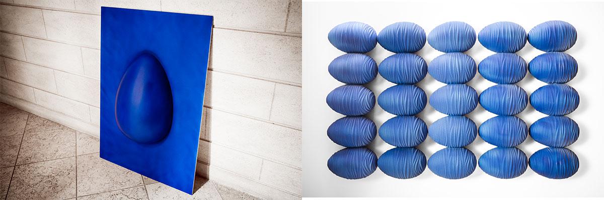Arthur Fèvre rend hommage à Yves Klein avec des créations chocolatières uniques