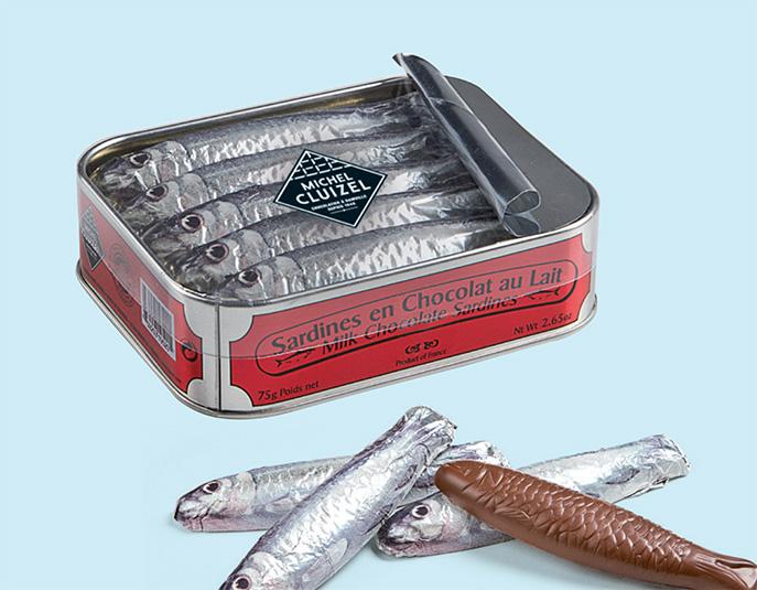 sardines en chocola