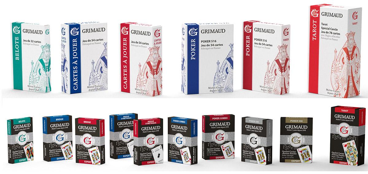 La gamme Origine est idéale pour les joueurs voulant acquérir des jeux de cartes de qualité dans la pure tradition française. ©Grimaud La gamme Expert s'adresse, elle, à des joueurs plus expérimentés, qui jouent régulièrement.