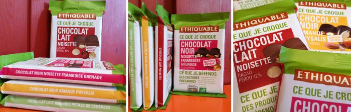 Equitable enrichit sa gamme de chocolats. Et lance les Carrés à Croquer. Quatre nouvelles recettes pour les aficionados de saveurs cacaotées.