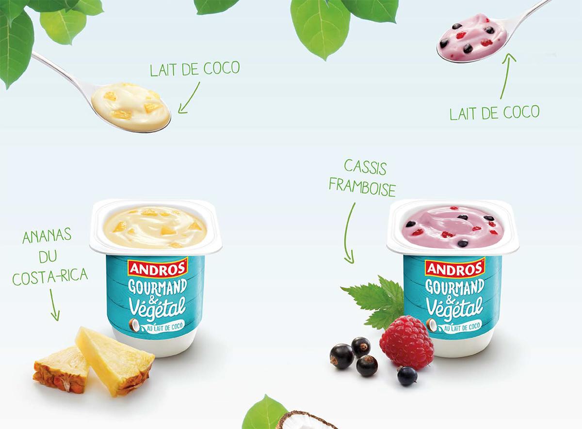 Yaourts Andros au lait de coco