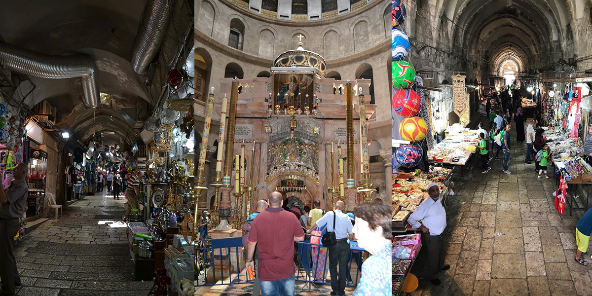 Le souk et le tombeau du Christ