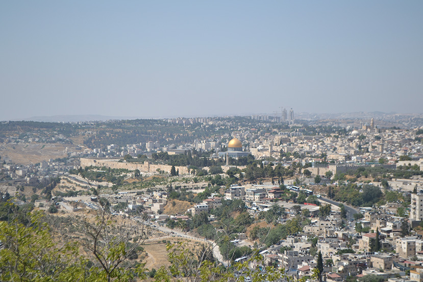 Jérusalem : La vieille ville vue du mont des Oliviers.