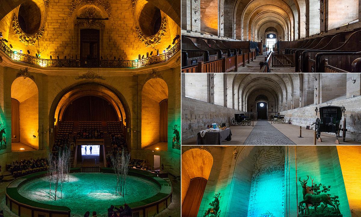 Les grandes écuries situées à deux pas du Château de Chantilly