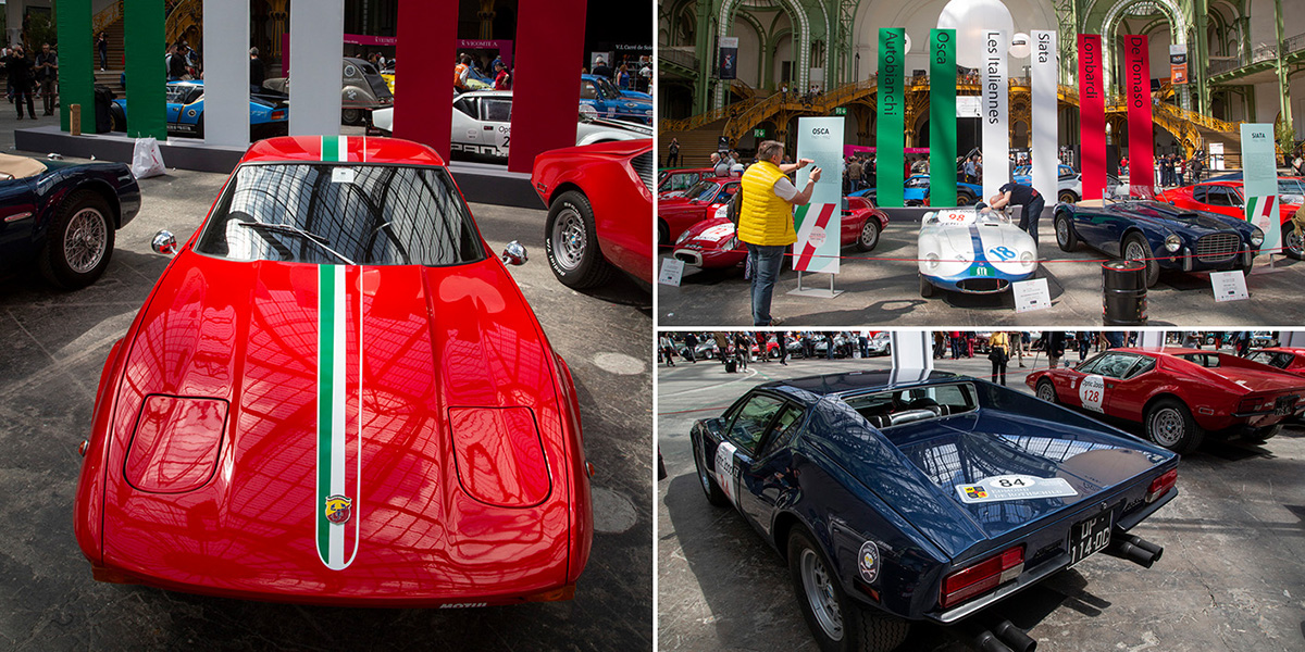 Le Tour Auto Optic2000 a invité cette année les voitures de marques italiennes disparues… pas complétement puisqu'elles participent à l'épreuve! Avanti! ©Caroline Paux