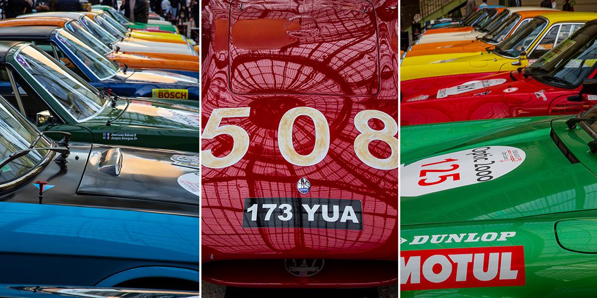 Les véhicules étaient rangés pas types et par marques, ce qui donna lieu à de belles perspectives…©Caroline Paux