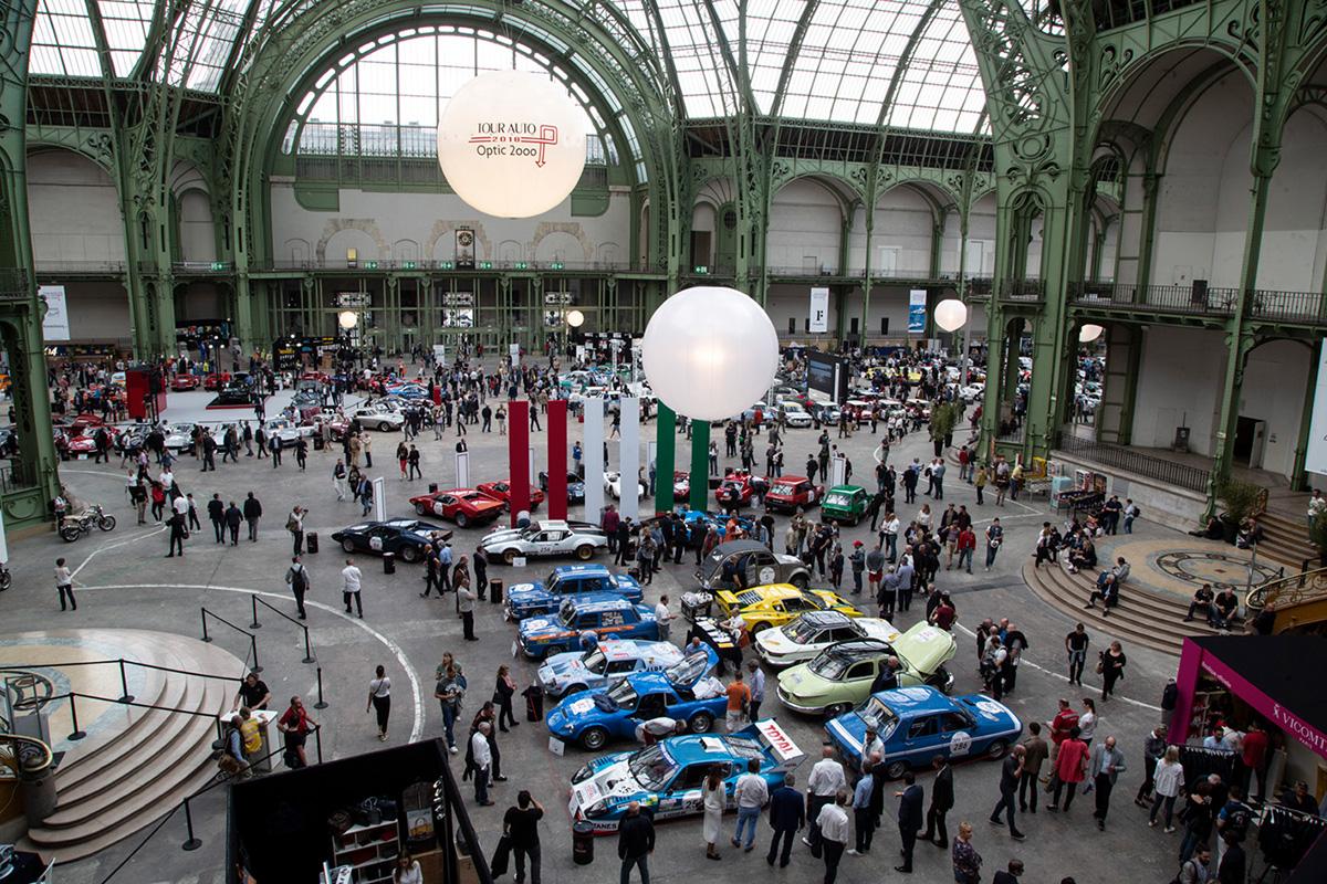 Les 245 voitures participants ont trouvé place sous la nef du Grand Palais. Plus de 10 000 visiteurs sont venus les découvrir lundi 23 mars ©Caroline Paux
