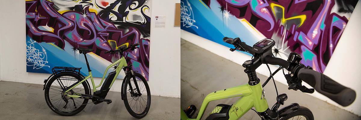 Le vélo Lapierre-Overvolt Explorer, le haute de gamme, véritable baroudeurdans la ville.