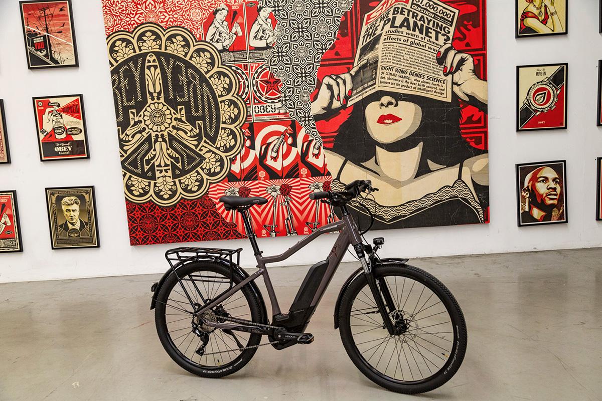 Le vélo Lapierre-Overvolt Trekking, classique et pratique.