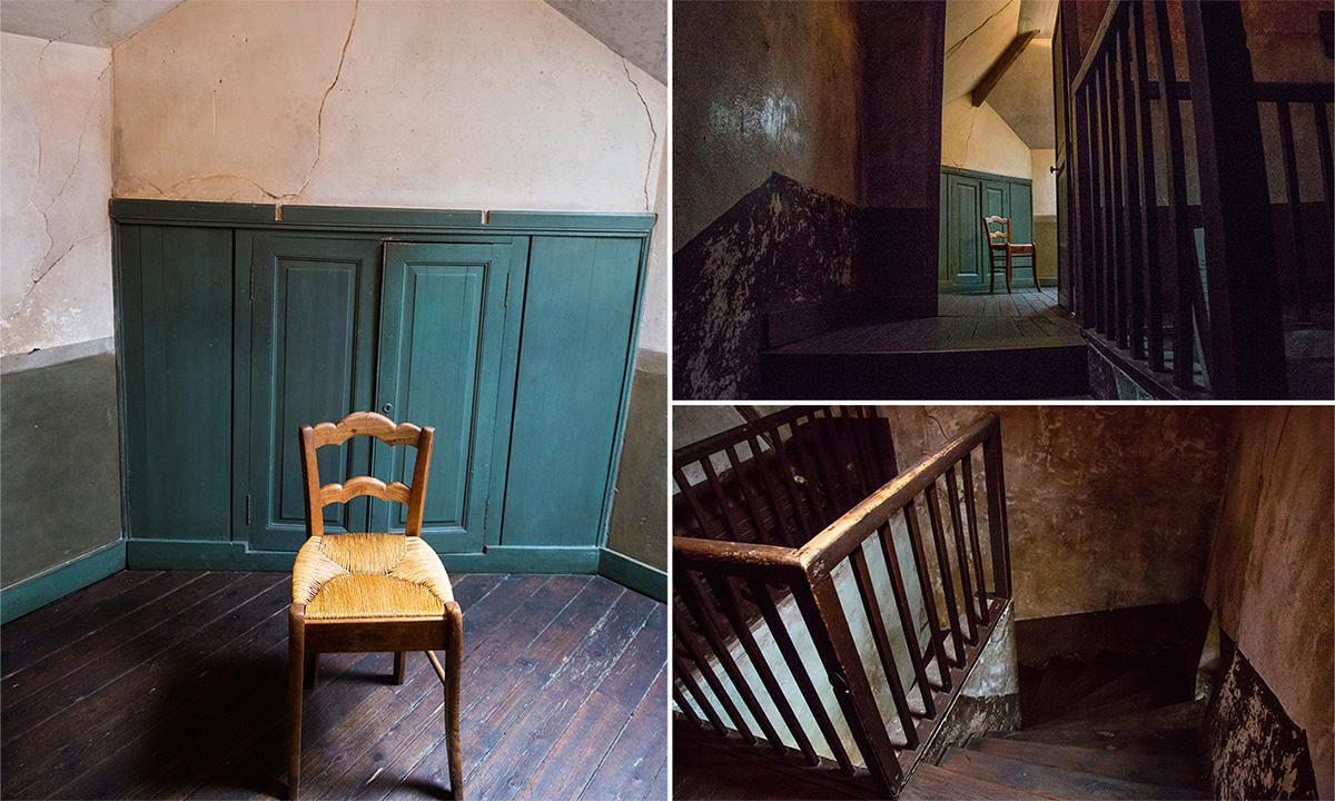 La chambre N°5 de l'Auberge Ravoux. C'est là qu'a vécu Vincent Van Gogh pendant 70 jours et où il est mort.