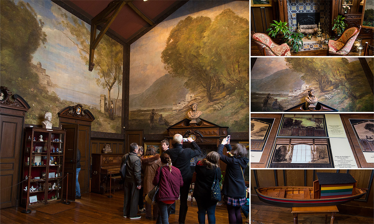 La Maison-atelier Daubigny a été décorée par Charles-François Daubigny et son fils Karl mais aussi par Corot, Daumier, Oudinot…