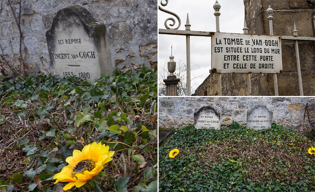 Vincent Van Gogh et son frère Théo sont enterrés au cimetière d'Auvers-sur-Oise.