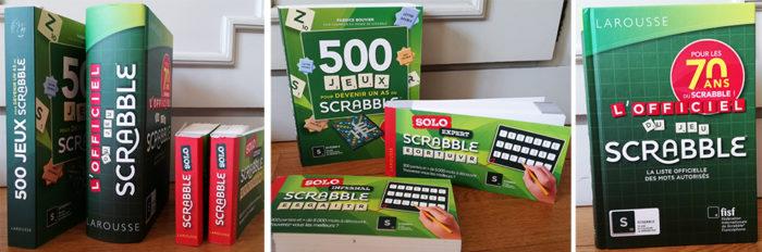 Les Editions Larousse proposent une nouvelle édition de L'Officiel du jeu Scrabble, 500 Jeux pour devenir un as au Scrabble ainsi que des chéquiers jeux.