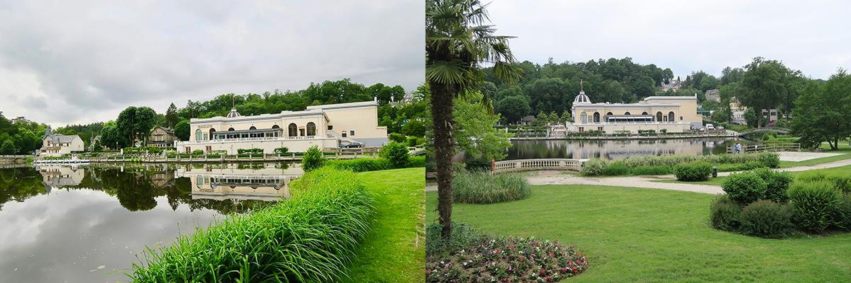 Le lac et le Casino de Bagnoles de l''Orne